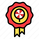 award, badge, candy, confectionery, lollipop, reward, sweets
