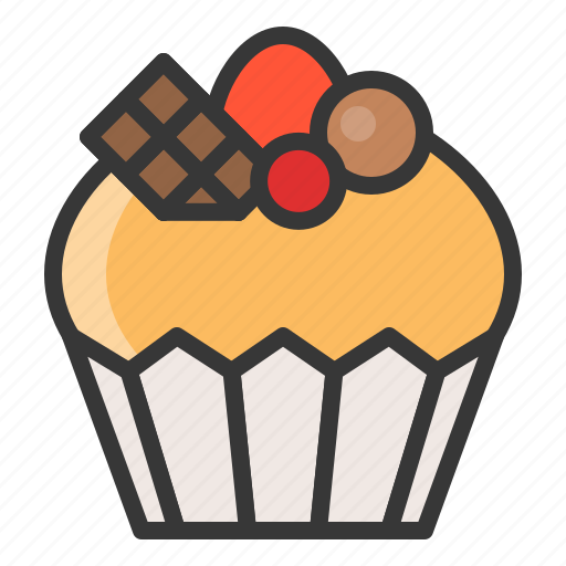 Cupcake, dessert, food, muffin, sweets icon - Download on Iconfinder