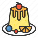 dessert, food, panna cotta, pudding, sweets icon