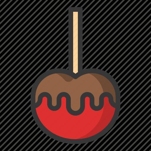 Caramel apple, dessert, food, sweets icon - Download on Iconfinder