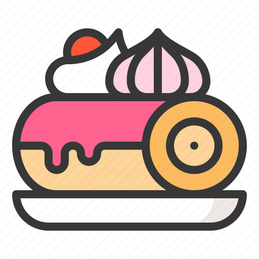 Dessert, food, jam roll, sweet roll, sweets icon - Download on Iconfinder