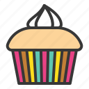 cupcake, dessert, food, muffin, sweets icon