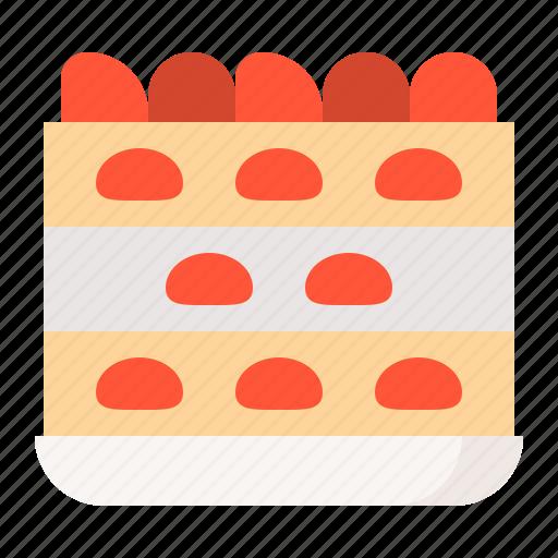 cake, dessert, food, strawberry cake, sweets icon