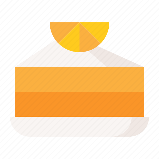 cake, dessert, food, orange cake, sweets icon