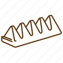 almond, chocolate, dessert, nuts, sugar, sweet, toblerone icon