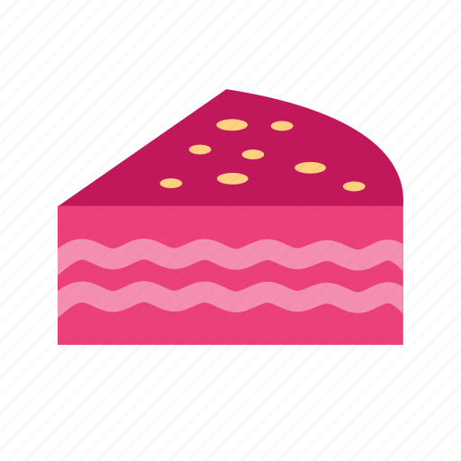 cake, cream, dessert, food, fresh, fruit, red velvet cake icon