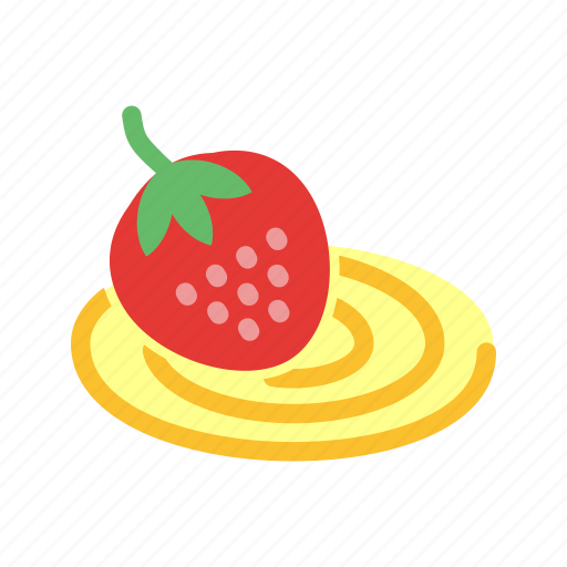 cake, dessert, food, roll, strawberry, sweet, swiss icon