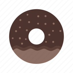 chocolate, dessert, donut, doughnuts, food, sprinkles, sugar icon