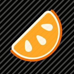 food, fruit, healthy, juicy, orange, slice, slices icon