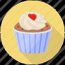 cake, cream cake, cupcake, dessert, vanilla cupcake