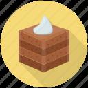 brownie, cake piece cake slice, chocolate brownie, dessert