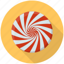 candy, candy cane, spiral candy, spiral pop, swirl lollipop icon
