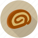 cake slice, cream roll, dessert, round cake, swiss roll
