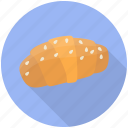 bakery food, butter croissant, croissant, croissant pastry, dessert icon
