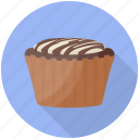 cake, chocolate cupcake, cupcake, dessert, sweet food icon