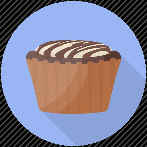 Cake, chocolate cupcake, cupcake, dessert, sweet food icon - Download on Iconfinder