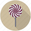 candy, candy cane, spiral lollipop, spiral pop, swirl lollipop icon