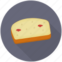 cake, cake slice, cheesecake, cream cake, dessert icon