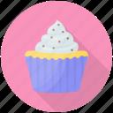 coconut cake, coconut cupcake, cream cake, cupcake, dessert icon