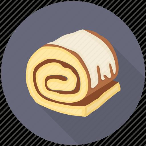 Cake, cake roll, dessert, sponge roller, swiss roll icon - Download on Iconfinder