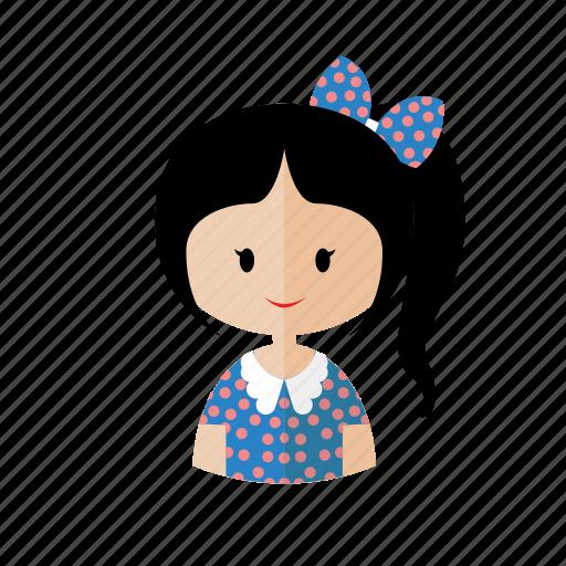 avatar, chibi, cute, girl, kids, sweet icon