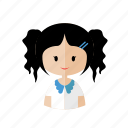 avatar, chibi, cute, girl, kids, sweet icon