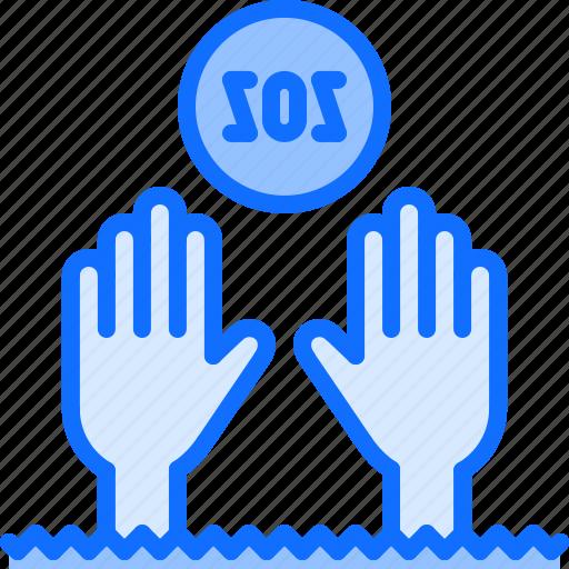 danger, drowning, sos, swim, swimmer, swimming, water icon