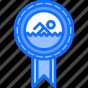award, badge, pin, swim, swimmer, swimming, water icon