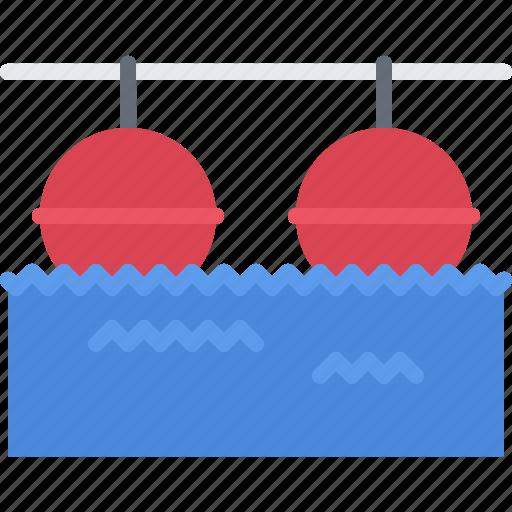 border, buoy, swim, swimmer, swimming, water icon