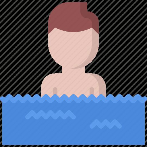 man, swim, swimmer, swimming, water icon