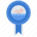 award, badge, pin, swim, swimmer, swimming, water