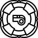 buoy, lifebuoy, swim, swimmer, swimming, water, whistle icon