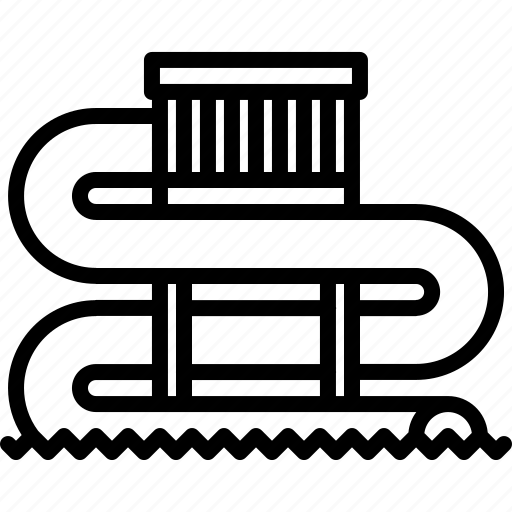 attraction, park, slide, swim, swimmer, swimming, water icon