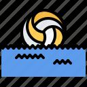 ball, polo, pool, swim, swimmer, swimming, water