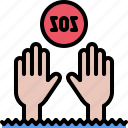 danger, drowning, sos, swim, swimmer, swimming, water icon