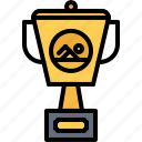 award, cup, swim, swimmer, swimming, water icon