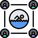 group, pool, public, swim, swimmer, swimming, water
