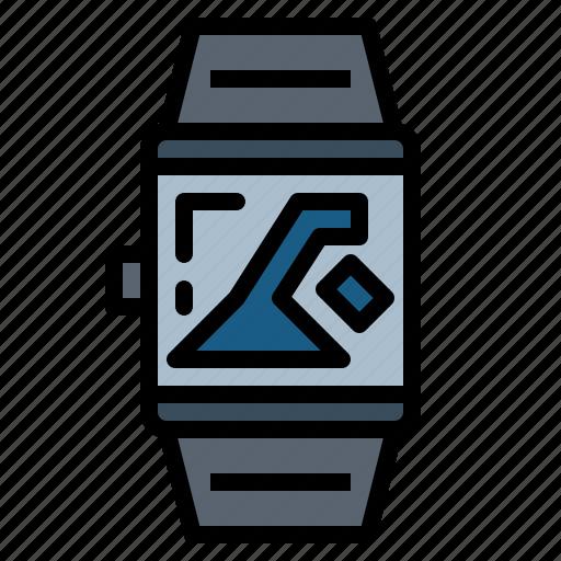 smartwatch, sport, swimming, watch icon