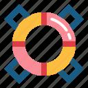 lifebuoy, lifeguard, safe, security icon