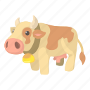 beef, cartoon, cattle, cow, dairy, farm, milk icon