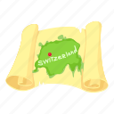 cartoon, map, region, switzerland, switzerland map, territory icon