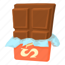 bite, cartoon, chocolate, dessert, foil, food, milk icon
