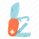 cartoon, knife, multi, penknife, pocket, swiss, tool icon