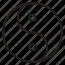 alfa, sign, yang, yin icon