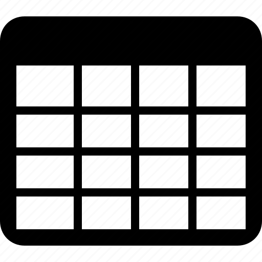 cell, data, database, grid, row, table icon
