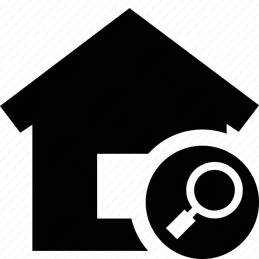 address, building, home, house, search icon