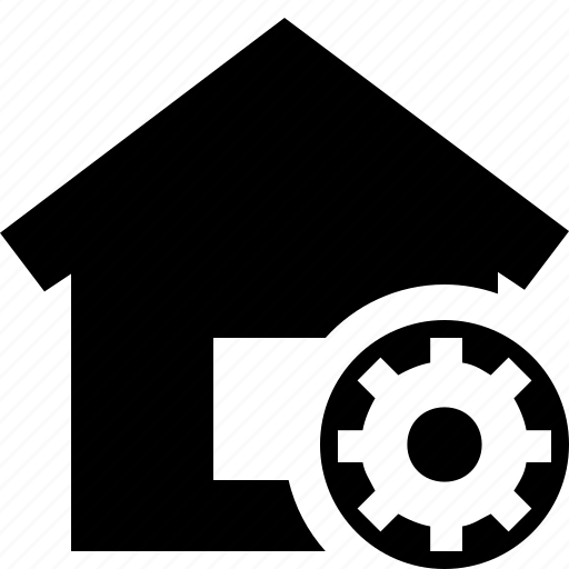 address, building, home, house, settings icon