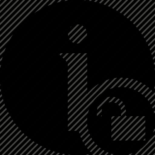 about, data, details, help, information, unlock icon