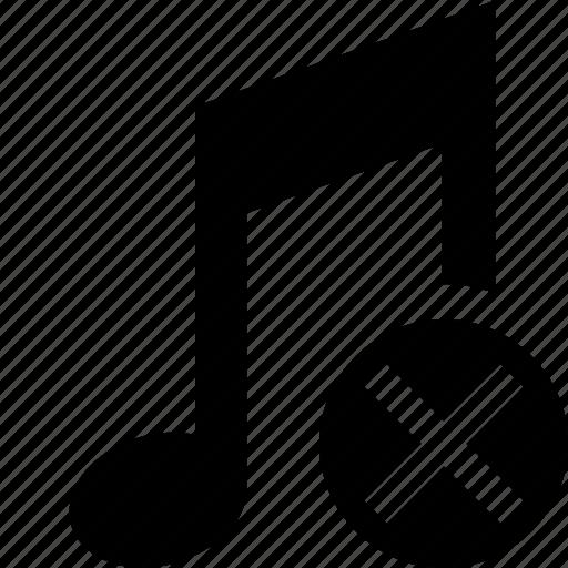 audio, cancel, multimedia, music, note, sound icon