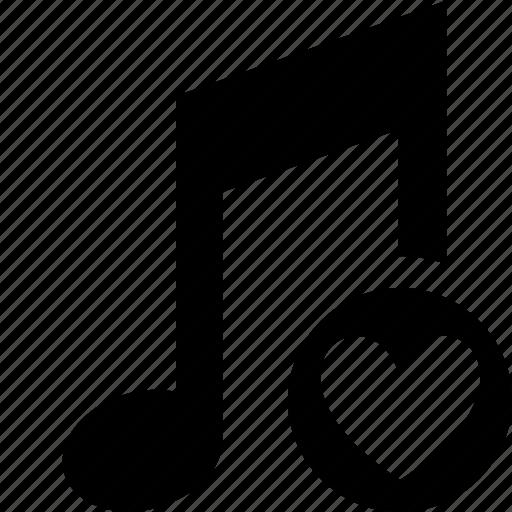 audio, favorites, multimedia, music, note, sound icon